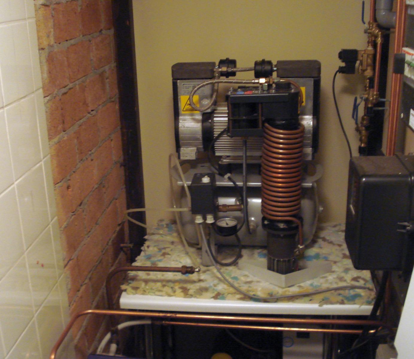Geluidsbron: een Dental compressor